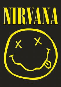 Nirvana Smiley large fabric poster / flag 1100mm x 750mm (hr)